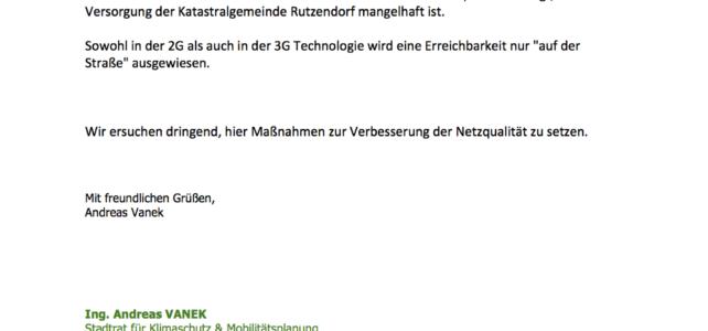 Information zum Mobilfunk in Rutzendorf