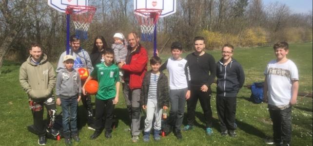 Basketballkörbe für die Jugend